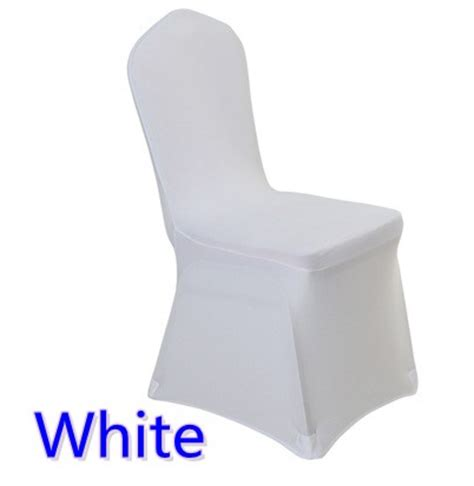 White Covers by Allcargos Tent Event Rentals Inc White Fitted Chair Cover