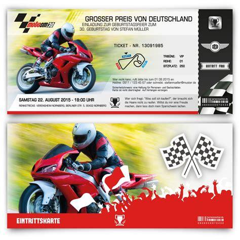 Motorradfahren Mit 60 Jahren by Geburtstagseinladungen Als Ticket Zum Motorrad Rennen