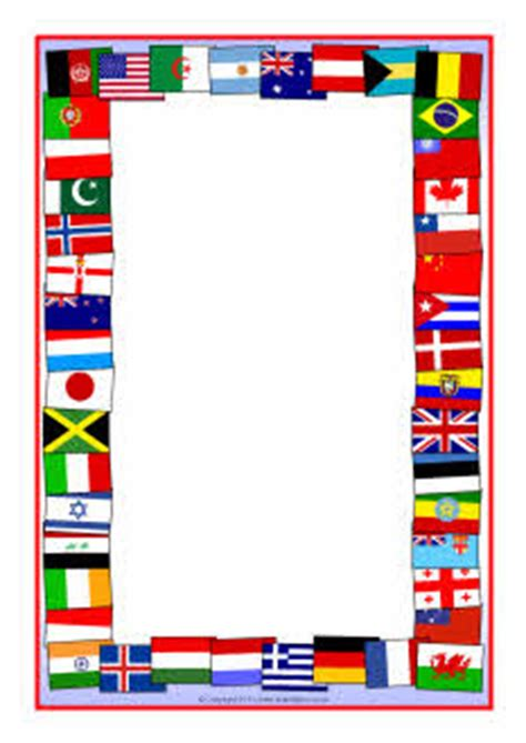 flags of the world page border flags of the world a4 page borders sb5827 sparklebox
