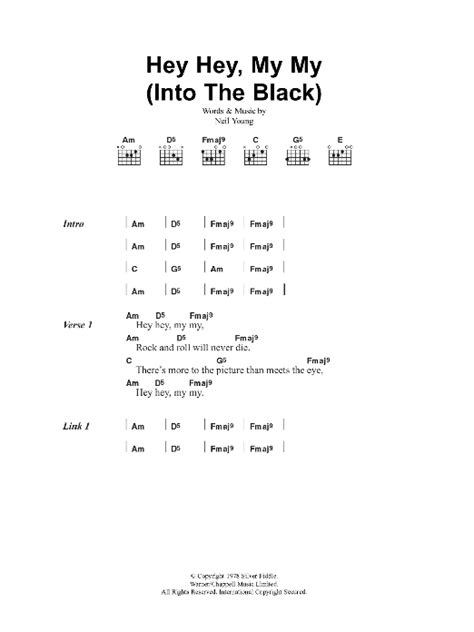 my chords hey hey my my into the black by oasis guitar chords