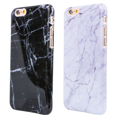 Iphone 6 6s Plus Marble Texture Gray Hardcase newest marble texture pattern design mobile phone rear cover for iphone 6 6s 4 7 smooth top