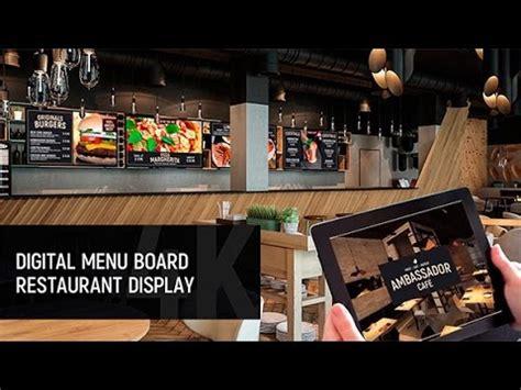 Digital Menu Board Restaurant Display After Effects Template Youtube Digital Menu Board Templates