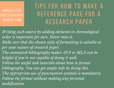 tips for research papers how to make a reference page for a research paper