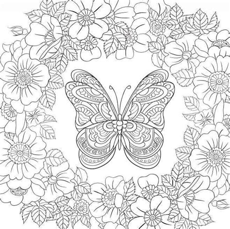 butterfly garden colouring book for adults books butterfly garden beautiful butterflies and flowers