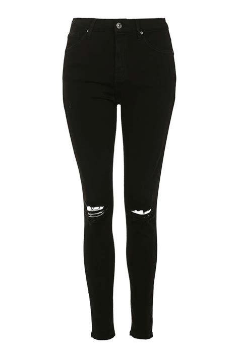 cloth moto black ripped skinny jeans topshop bbg clothing