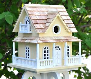 home bazaar cape may cottage birdhouse yellow