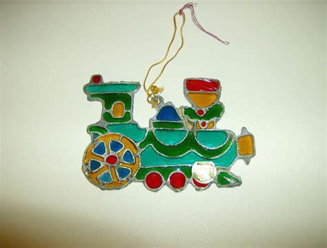 kurt s adler stained glass christmas ornament train