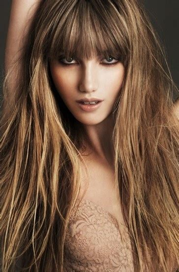 hairstyles with highlights and bangs long hair bangs blonde highlights hair inspiration