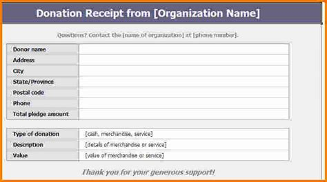 Donation Receipt Template Word by 8 Donation Receipt Template Expense Report