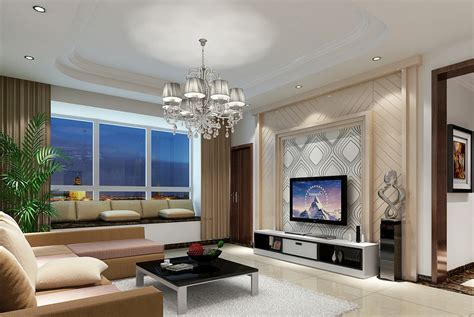 Livingroom Tv by China Modern Living Room Lighting And Tv Wall 3d House