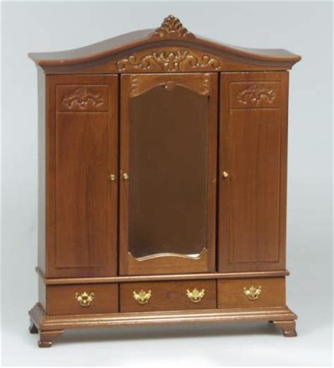 dolls house wardrobe heidi ott miniature dolls house wardrobe in walnut xy550w