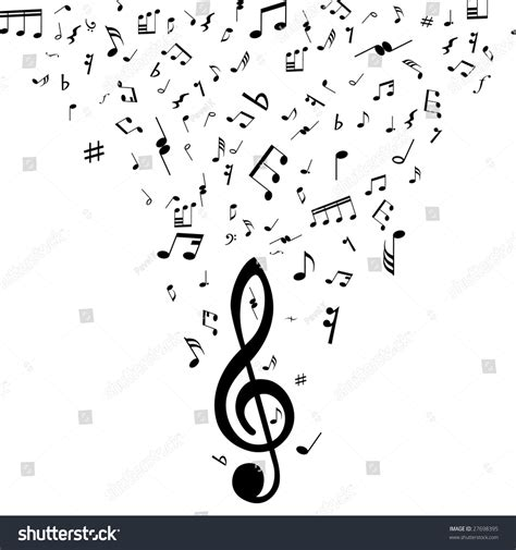 dark color musical notes vector musical design elements with treble clef and notes in