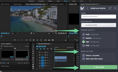 adobe premiere pro support how do i upload to wipster from adobe premiere pro
