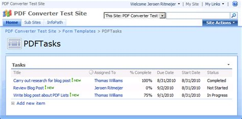 jquery workflow designer converting sharepoint lists to pdf format using a