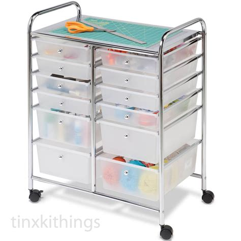 craft storage cart with drawers rolling mobile cart drawer organizer storage art craft