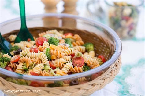 easy pasta salad easy pasta salad with zesty italian dressing saving room