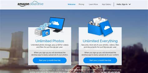 amazon unlimited storage amazon now offering unlimited storage get 3 months free trial