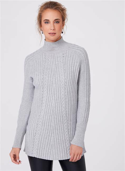 Funnel Neck funnel neck knit sweater melanie lyne