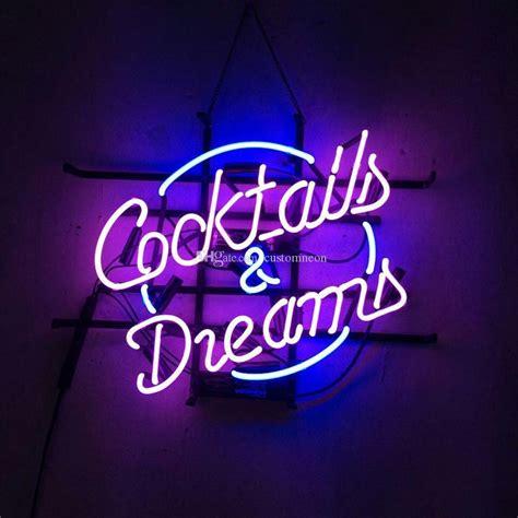 cocktail dreams custom real glass tube neon