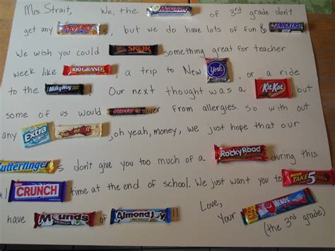 appreciation letter for birthday gift 17 best images about candygram on