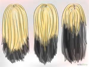 tips on the bottom of hair dye your hair blonde black underneath step medium hair
