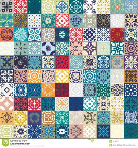 Patchwork Web - mega gorgeous seamless patchwork pattern from colorful