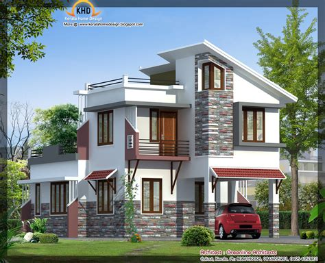 modern villa elevation 1577 sq ft kerala home design and