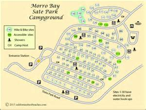 california state cgrounds map morro bay cing california s best beaches