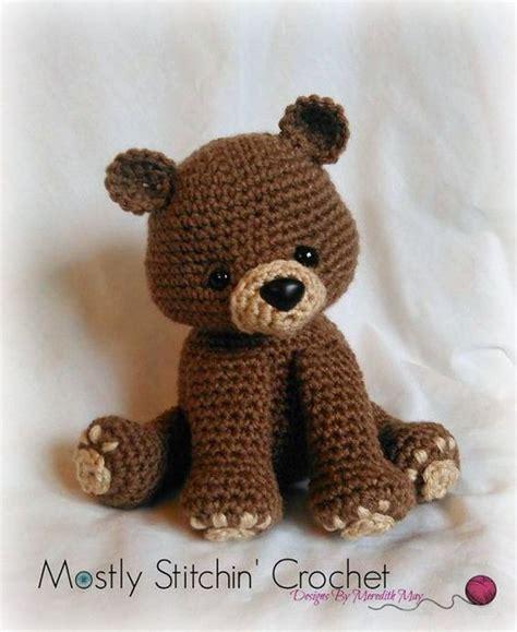 pattern bear pinterest bear crochet pattern pdf black bear brown bear by
