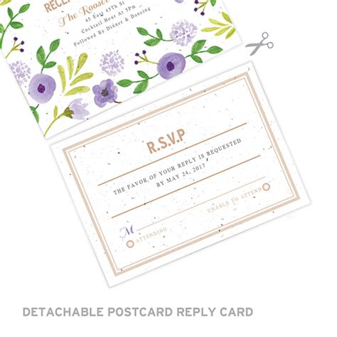 Unique Ways To Seal Wedding Invitations by Painterly Florals Seal And Send Invitation Plantable