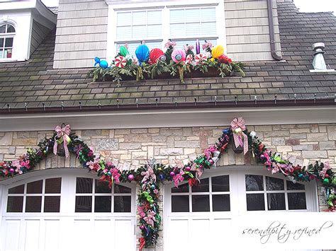 diy garage door decorations serendipity refined decorations in october don t be a grinch