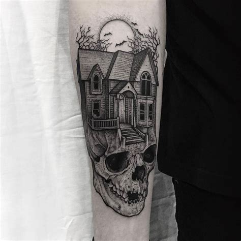 house tattoo 25 best ideas about haunted house on