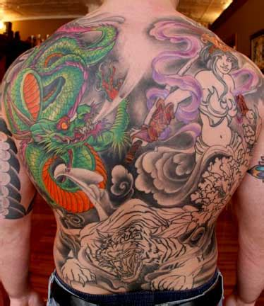dragon back piece tattoo designs tattoos avenged back japanese ideas