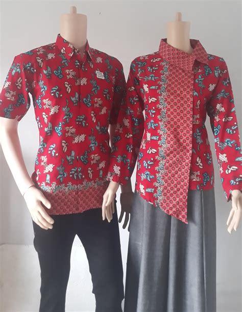 Batik Gamis Anjani Prada sarimbit katun 55815 krah miring baju kemeja batik