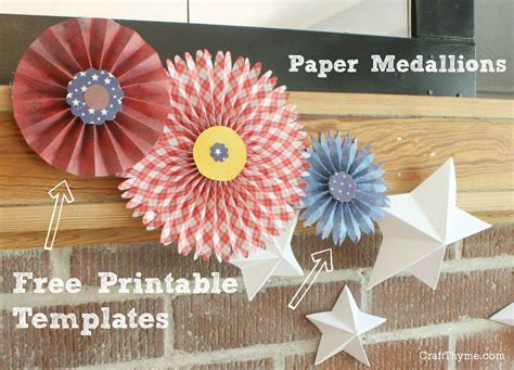 How To Make A Rosette Out Of Paper - free paper rosette templates craft thyme