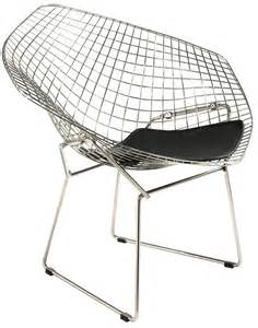 Dark Sofas Harry Bertoia Style Wire Diamond Lounge Chair Style