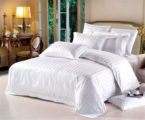 free shipping white duvet cover hotel bed set high quality