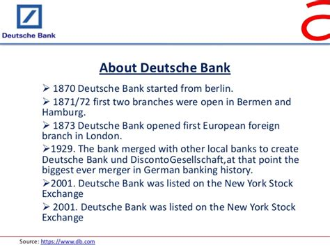 deutsche bank analyse external analysis of bank 1
