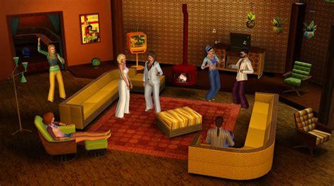 70s living room les futures extensions des sims 3 en vid 233 o et en images