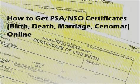 National Statistics Office Birth Certificate Records How To Get Psa Nso Certificates Birth Marriage Cenomar Abroads