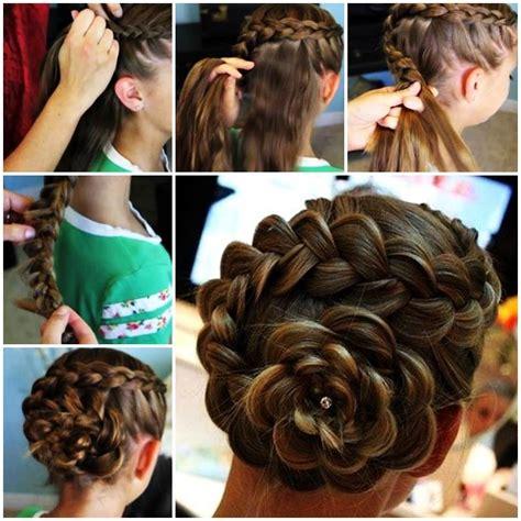 diy hairstyles with braids diy dutch flower braid updo hairstyle