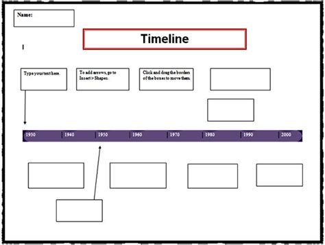 editable template for students 7 timeline templates for students free word pdf format