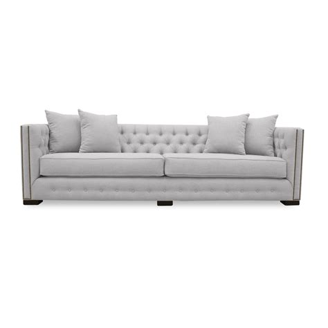 venetian linen tufted sofa south cone home furniture