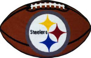 59 Bathroom Vanity by Nfl Pittsburgh Steelers Football Shaped Rug Contemporary
