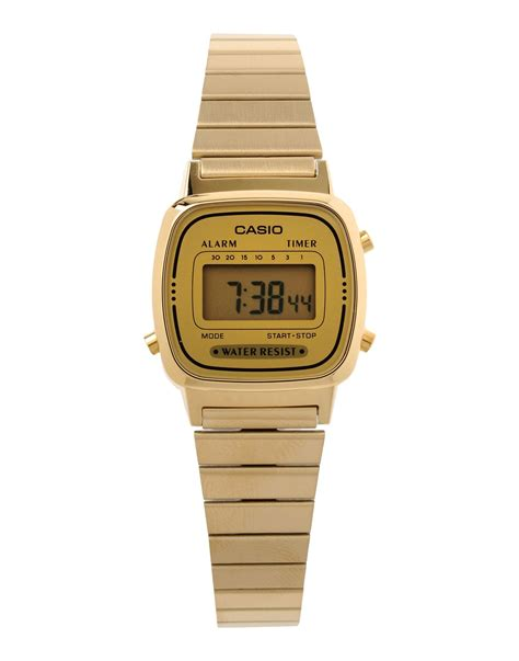 Casio Gold g shock wrist in metallic lyst