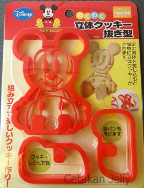 Oven Kue 40 Mickey Mouse 4 cetakan cookies mickey bread cookie cutter 3d cetakan