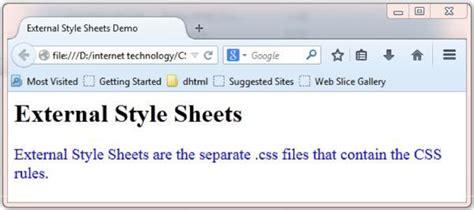 css tutorial link stylesheet css