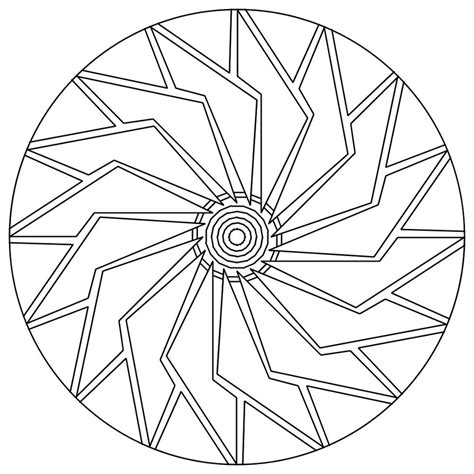 Free Coloring Pages Of Mandalas Easy Mandalas To Color Easy