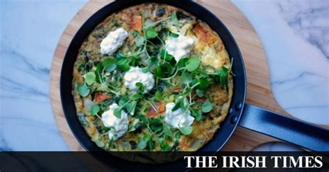 cottage cheese frittata sweet potato spinach and cottage cheese frittata with