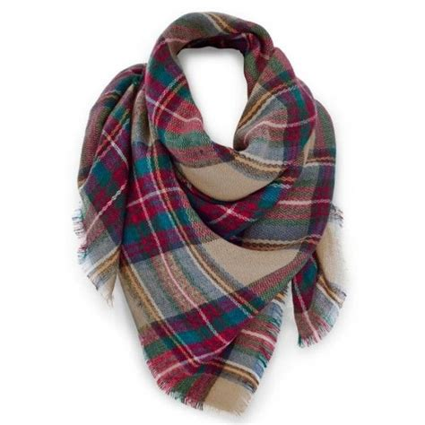 venus multi color plaid scarf 26 liked on polyvore